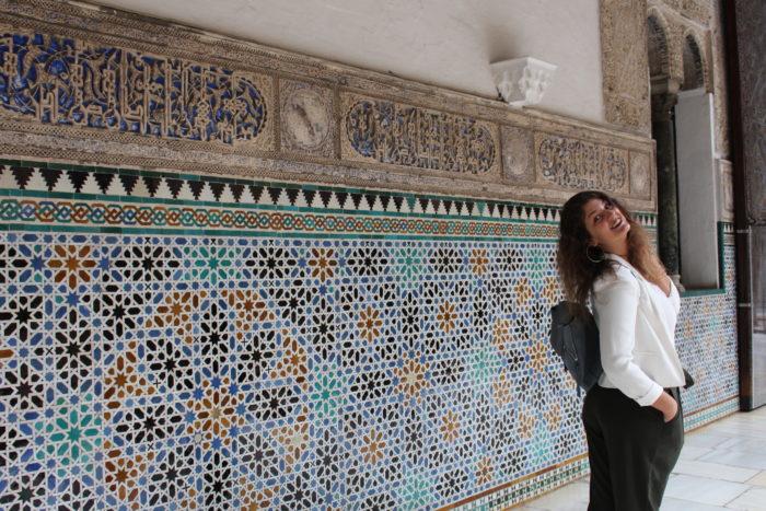 Moi à l'Alcazar de Séville en 2017
